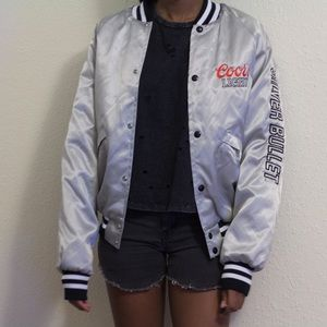 Jackets & Blazers - Coors light silver bomber